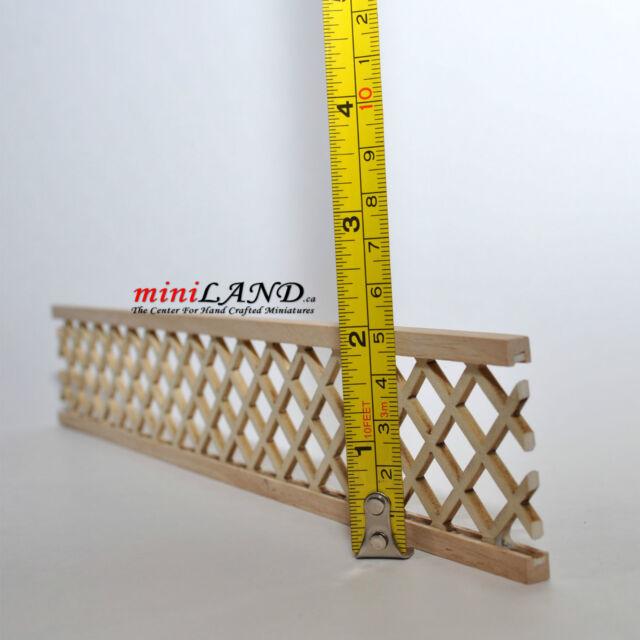 "Dollhouse Miniature Wood Porch Lattice Panel unfinished 12"" Long 2""H"