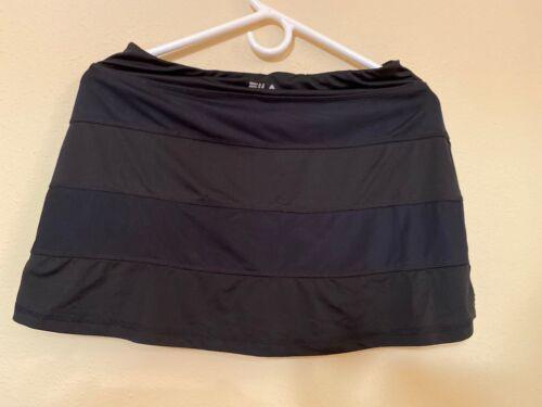 Black FILA Tennis Golf Sports Skort Skirt Shorts A