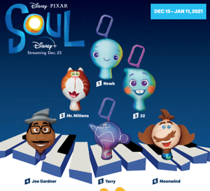 McDonald-039-s-2020-Happy-Meal-Toys-Disney-PIXAR-Soul-MCD-Golden-Arches-Toy