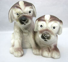 Mix Breed Dogs Vintage Figurines FEI Collector's Group Brown White