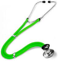 Stethoscope Sprague Rappaport Neon Green Dual Tube 122 Prestige Medical 30