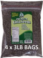 12 POUNDS Premium Black Chia Seed Get Raw Seeds Gluten-Free No GMO Grown Organic
