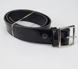 Gould-amp-Goodrich-H52-Black-Leather-Police-Belt-High-Gloss-Pants-Duty-Belt