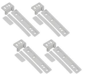 4x-Zanussi-Integrated-Fridge-Freezer-Door-Mounting-Bracket-Fixing-Slide-Kit-A61C