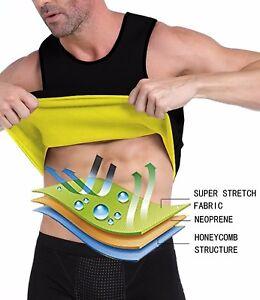 20258ed7d7e Mens GYM Tank Top Vest Sauna Sweat Slimming Shaper Weight Loss ...