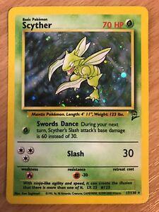 Scyther 17//130 Base Set 2 Holographic Rare Pokemon Card NM