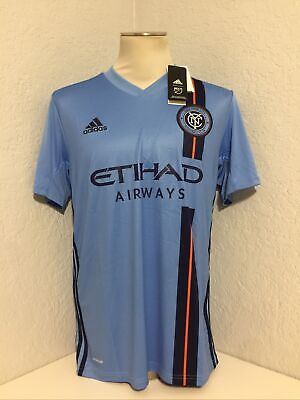 Men's AUTHENTIC Adidas MLS NEW YORK CITY FC Football/Soccer Jersey ...