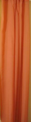 Dekostoff Gardine Meterware,140 cm breit Voile uni 10 lfm Sparpaket terra