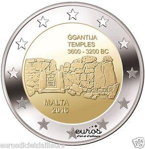 2-euros-commemorative-Malte-2016-Ggantija-350-000-exemplaires-Qualite-UNC