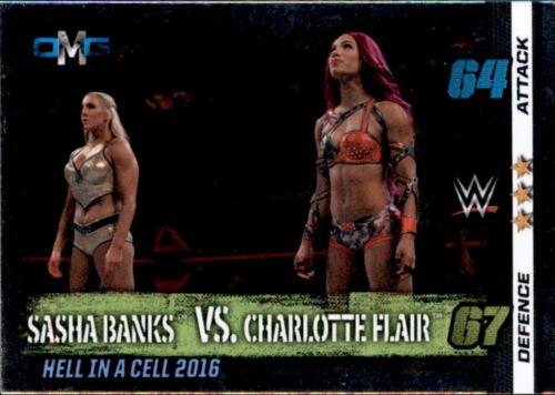 OMG 10th Edition 61 Sasha Banks vs Charlotte Flair Nr WWE Slam Attax