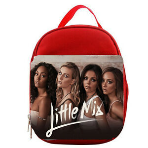 LITTLE MIX  KIDS LUNCH BAG   BLUE OR RED PERSONALISE FREE CANVAS