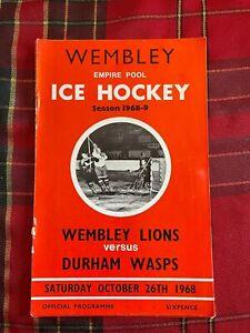 Wembley Empire Pool - Wembley Lions - Ice Hockey Programme 26/10/1968