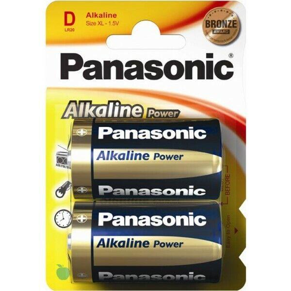 PANASONIC Alkaline Power D Batteries - Pack of 2 S5567 [AU]