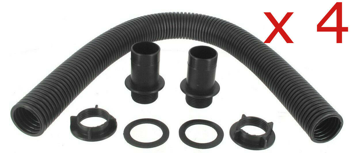4x Ward Water Butt Connector Pipe Link Kit Save & Store Rainwater for Gardening