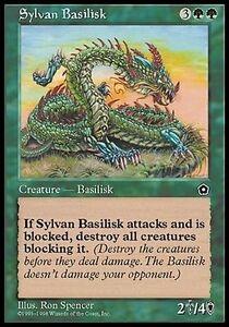 Basilisco-Silvano-Sylvan-Basilisk-MTG-MAGIC-PO2-Portal-Second-Age-Eng-Ita