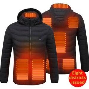 Gilet chauffant électrique Hiver veste USB chauffage électrique à capuche coton