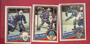 1984-85-TOPPS-QUEBEC-NORDIQUES-CARD-LOT