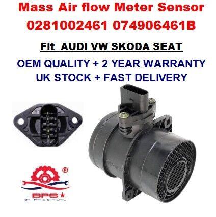 Mass Air Flow Meter Sensor 0281002461 pour Audi VW Skoda Seat 1.9 2.0 TDI OEM