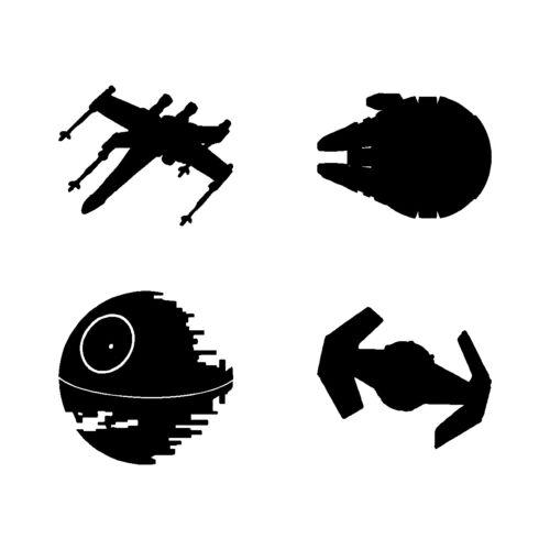 """Star Wars Ships Set vinyl decals Laptop Stickers feuille de 4 3/"""" navires"""