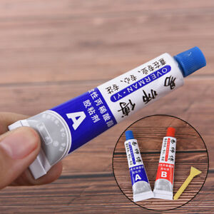 2xUltrastrong-AB-Epoxy-Resin-Strong-Adhesive-Glue-With-Stick-Plastic-Wood-ToolAT