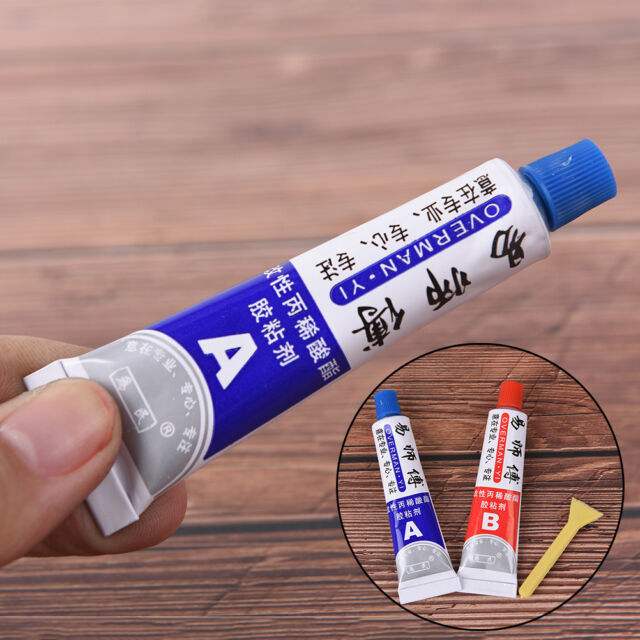 2xUltrastrong AB Epoxy Resin Strong Adhesive Glue With Stick Plastic Wood ToolAT