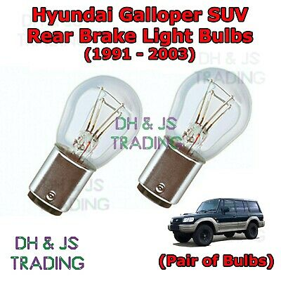 For Hyundai Galloper MK2 White LED /'Trade/' Wide Angle Side Light Beam Bulbs Pair