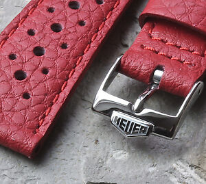 Red-22mm-rally-band-with-Heuer-buckle-match-a-Heuer-Monaco-1133G-or-Heuer-1533B