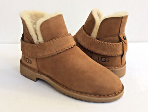c61620071c1 Details about UGG MCKAY CHESTNUT SUEDE SHEARLING ANKLE BOOTS US 6 / EU 37 /  UK 4.5 - NIB