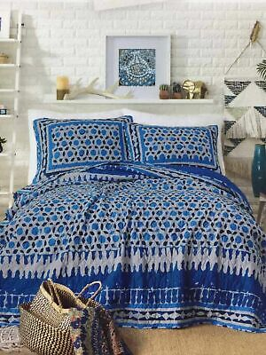 Justina Blakeney By Makers Collective Himaya King Quilt Set 3 Piece Blue White Ebay