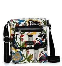 NWT!! sakroots Optic White Peace Small Messenger Cross Body Bag Purse Boho