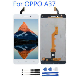 White-For-OPPO-A37-LCD-Display-Touch-Screen-Digitizer-Assembly-Replacement-Tools