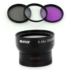 Albinar 37mm Wide Angle Lens,CPL-UV-FLD Filter Kit fo Sony HDR CX160 CX130 XR160
