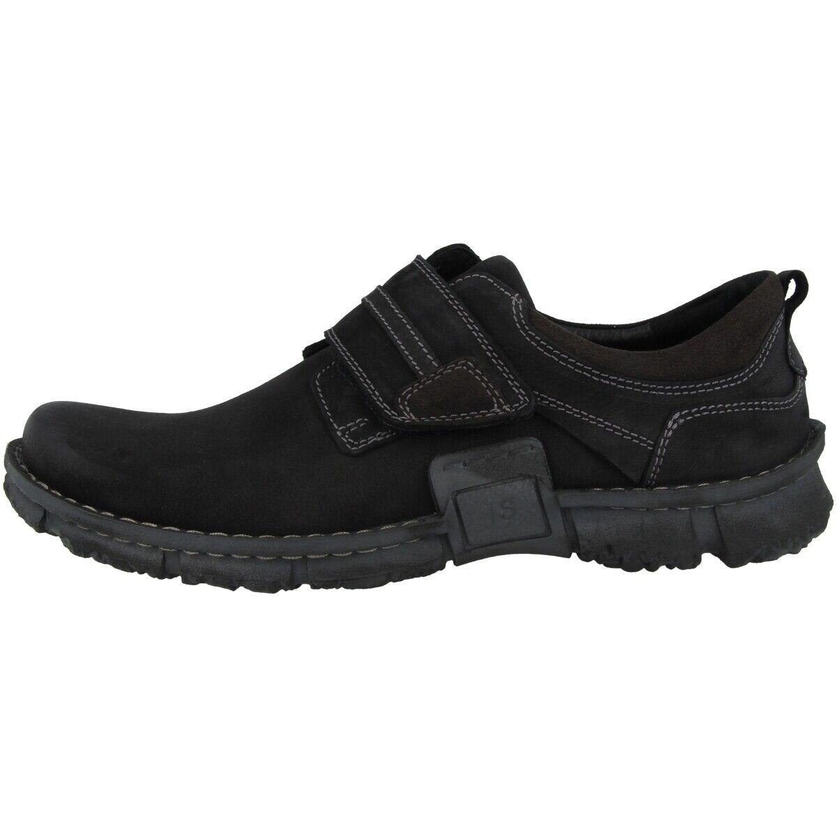 Josef Seibel Willow 45 zapatos caballero zapatos abotinados velcro zapatos negro 14145-920-100