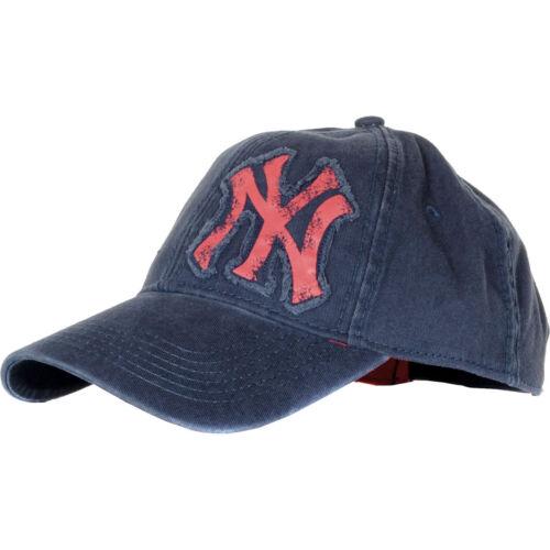 Da Uomo New Era NY Yankees Burnout Logo Blu Navy Camionista Cappellino Da Baseball Taglia