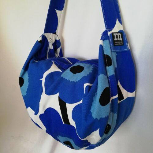 MARIMEKKO Blue Floral Unikko Pattern Canvas Sholde
