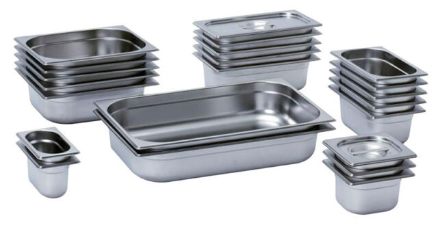 Zodiac Full Size 1//1 High Quality Stainless Steel Gastronorm Containers 1//1 LID