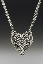 Artisan Silver Spoon Jewelry - ENGLISH LACE necklace - #SS-ENGLISHLACE-HND