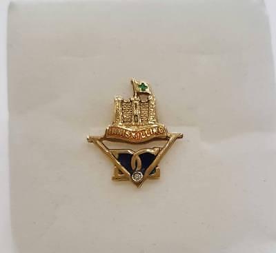 Spilla da giacca uomo Regimental INNISKILLING oro18 kt giallo, diamantino | eBay