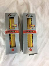 Vittoria Tecno Pro 700x23 Road Bike Tire Pair - YELLOW - NEW OLD STOCK