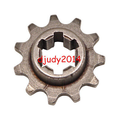 17 Tooth Front Engine Sprocket Fits 47cc 49cc Mini Moto Dirt Bike T8F Chain.