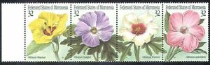 Micronesia-1995-Native-Flowers-Hibiscus-4v-stp-s1708