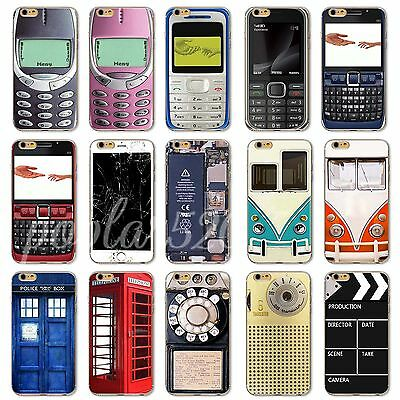 Thin Soft TPU Vintage Retro Patterned Case Cover For iPhone 4S 5S SE 5C 6S/Plus