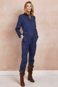 East-Women-Denim-Full-Sleeves-Zipped-Jumpsuit-Playsuit-Boilersuit-8-10-12-14-16