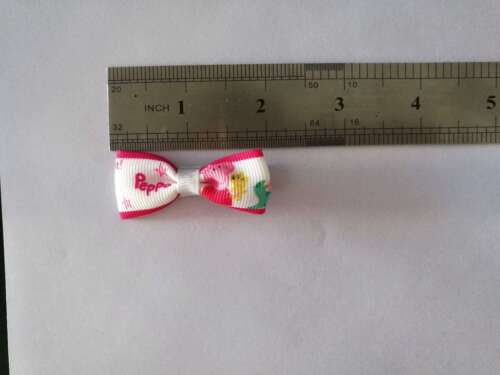 """100 BLESSING Good Girl 2/"""" Hair Bow Clip Piggy Page Rhinestone Baby"""
