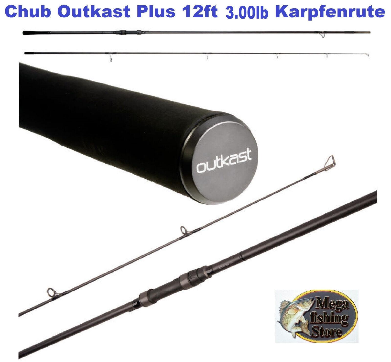 Canna da pesca Chub Outkast Plus 12ft 3.00 LB storione & CARPA CANNA CARPA PESCA