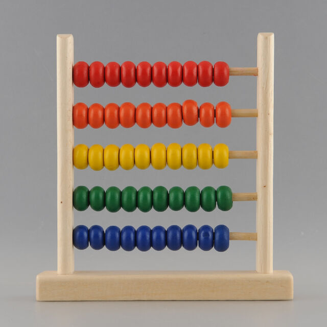 5-Row Classic Toy Wooden Abacus Child Educationnal Calculate  Math Learning