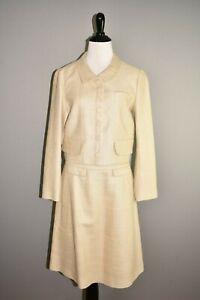 CHLOE-2995-Beige-Silk-Boucle-2-Piece-Skirt-Suit-Blazer-T-38-40-US-6-8
