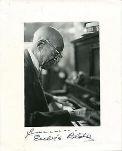 Eubie Blake Autograph Pianiist Composer Ragtime Jazz Signed Photo