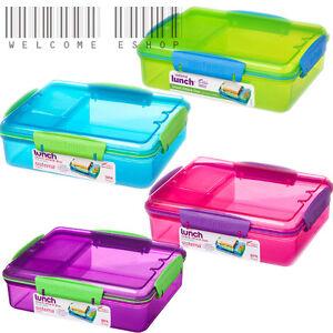 Image is loading Sistema-975ml-Multi-Compartment-Snack-Attack-Duo-Lunch-  sc 1 st  eBay & Sistema 975ml Multi Compartment Snack Attack Duo Lunch Box | eBay