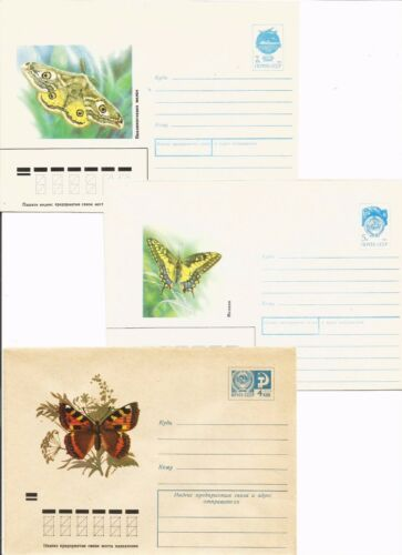Russia - 12 Covers 1972-90 years - Butterflies